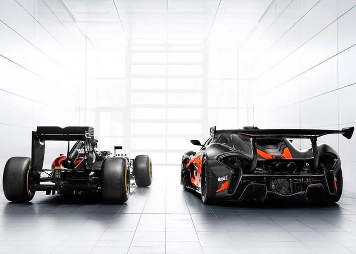 McLaren p1 GTR F1 back