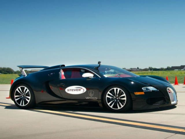 a 325 km h en un bugatti veyron con s lo 13 a os. Black Bedroom Furniture Sets. Home Design Ideas