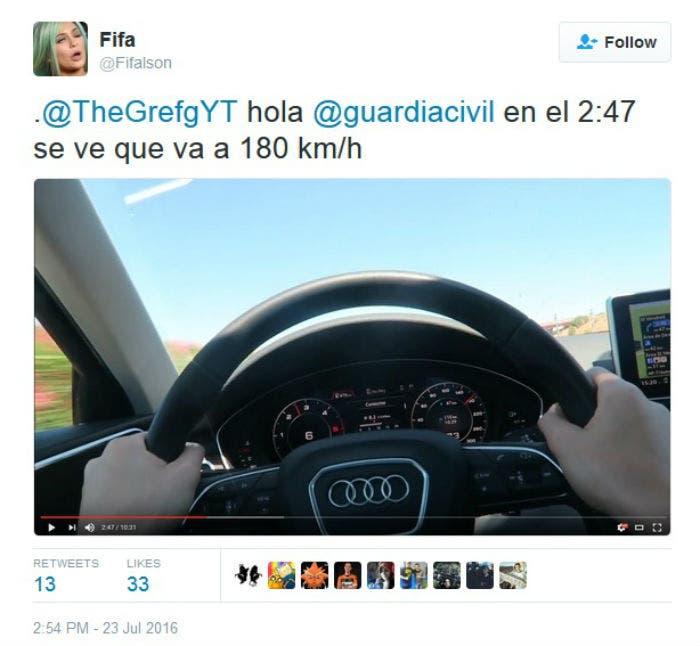 Audi deja sin coche a un youtuber por grabarse a 180 km h - Coches por 100 euros al mes sin entrada ...