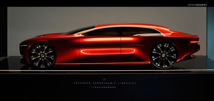 Este podría ser el diseño futurista de Mercedes según el propio Roman Egorov