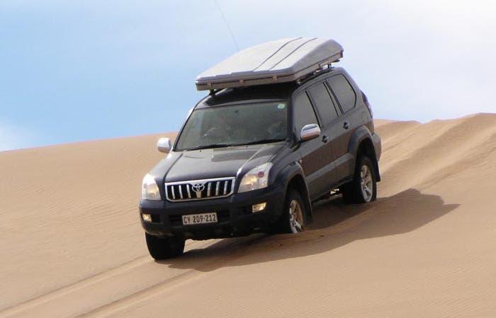 Uso de freno motor para bajar una duna