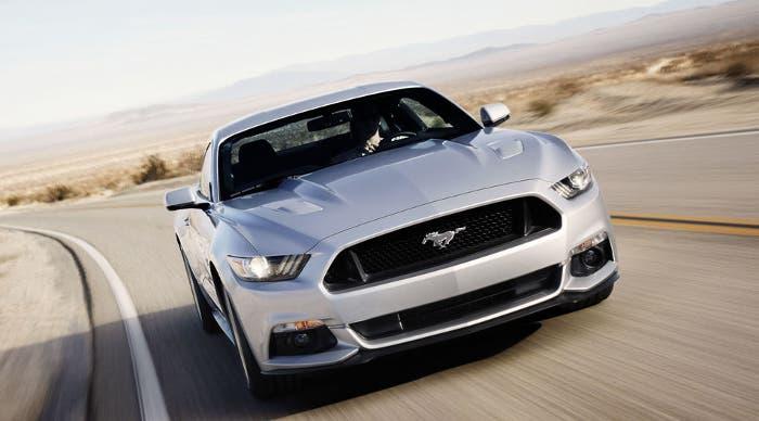 Mustang en movimiento