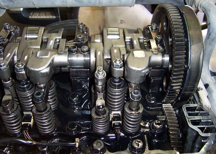 Ilustración motor de combustión