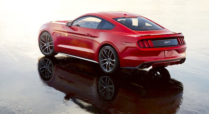 Vista trasera Ford Mustang